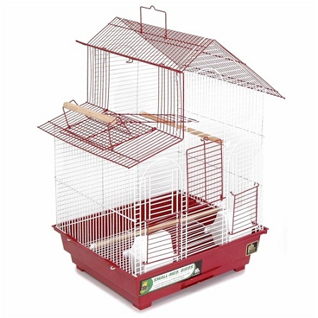 House Style Bird Cage - Red