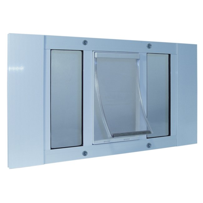 Aluminum Sash Window Pet Door - Medium/23-28 Inches