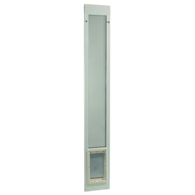 "Fast Fit Pet Patio Door - Medium/White Frame 75"" to 77 3/4"""
