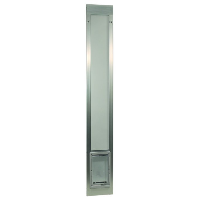 "Fast Fit Pet Patio Door - Super Large/Silver Frame 75"" to 77 3/4"""