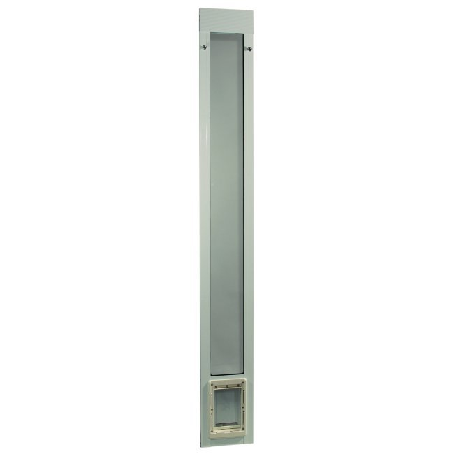 "Fast Fit Pet Patio Door - Small/White Frame 75"" to 77 3/4"""