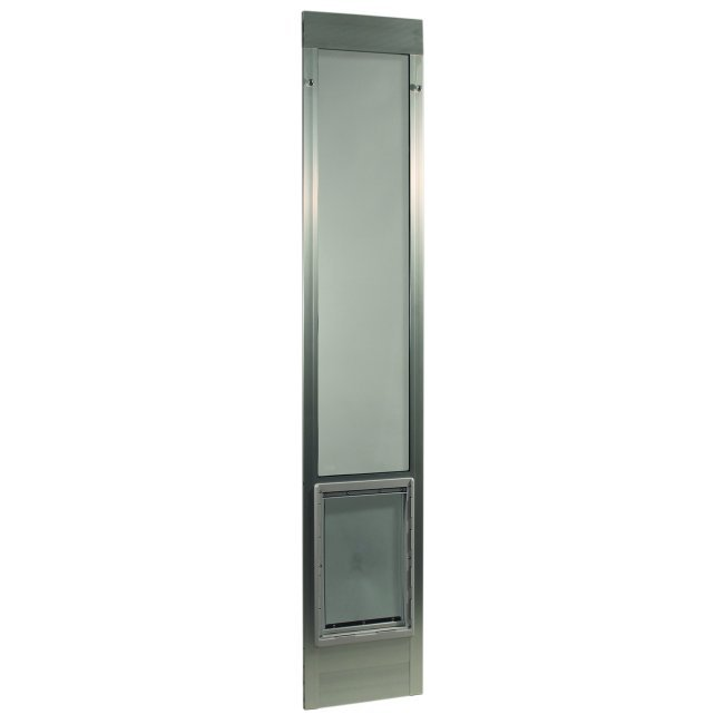 "Fast Fit Pet Patio Door - Extra Large/Silver Frame 75"" to 77 3/4"""