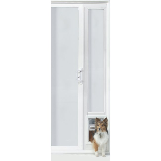 "VIP Vinyl Insulated Pet Patio Door - Medium/76 3/4"" to 78 1/2"""