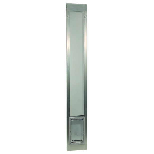 "Fast Fit Pet Patio Door - Super Large/Silver Frame 77 5/8"" to 80 3/8"""