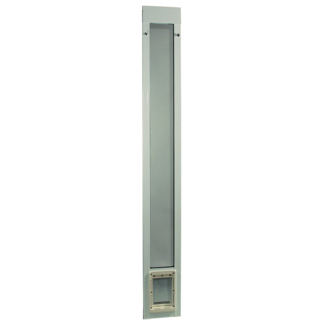 "Fast Fit Pet Patio Door - Small/White Frame 77 5/8"" to 80 3/8"""