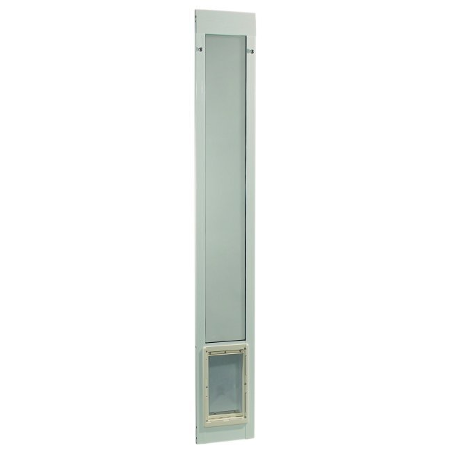 "Fast Fit Pet Patio Door - Medium/White Frame 93 3/4"" to 96 1/2"""
