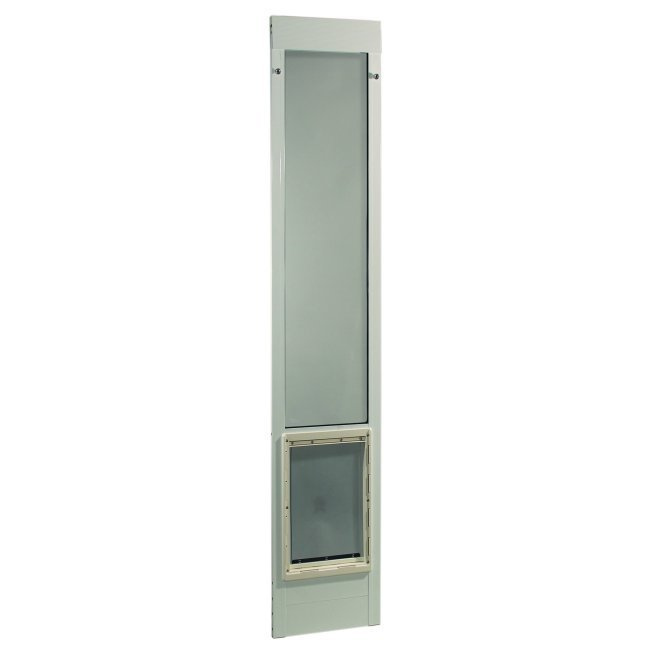 "Fast Fit Pet Patio Door - Extra Large/White Frame 93 3/4"" to 96 1/2"""