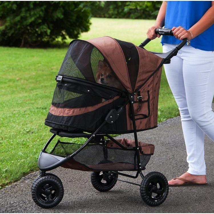 Special Edition No-Zip Pet Stroller - Chocolate