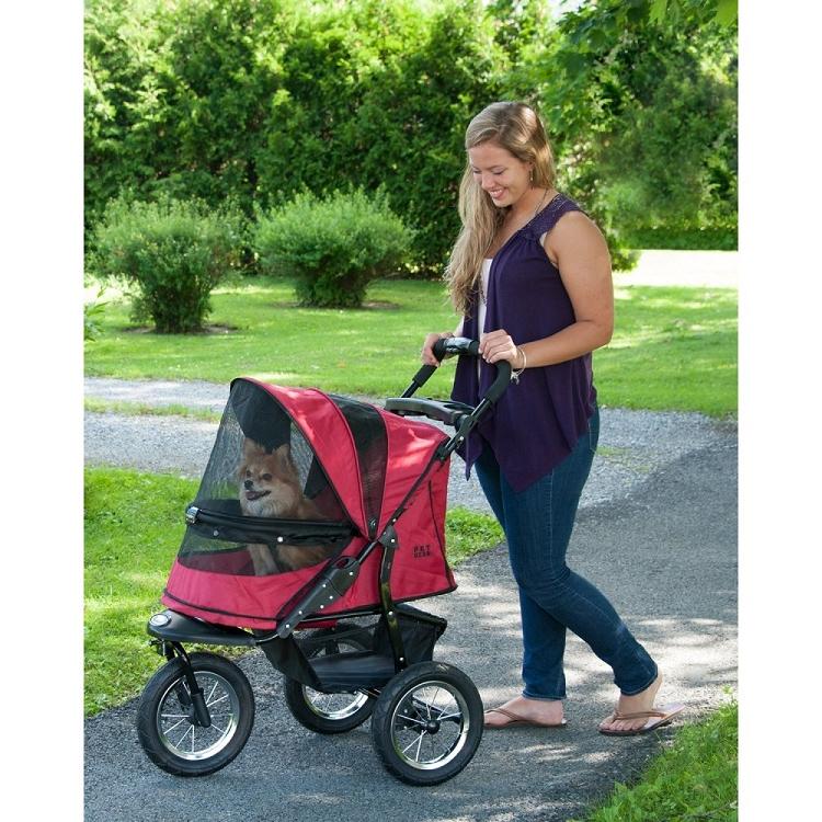 Jogger No-Zip Pet Stroller - Rugged Red