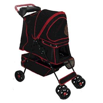 BSSN Walkie Pet Stroller - Red-Pet Strollers-PetZip