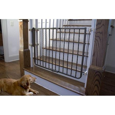 Wrought Iron Decor Dog Gate