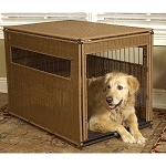Wicker Dog Crate - Large
