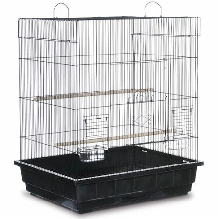 Square Roof Parakeet Cage - White