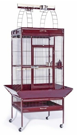 Large Select Wrought Iron Play Top Bird Cage - Pewter