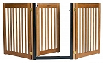 Walk Through 3 Panel Free Standing Pet Gate