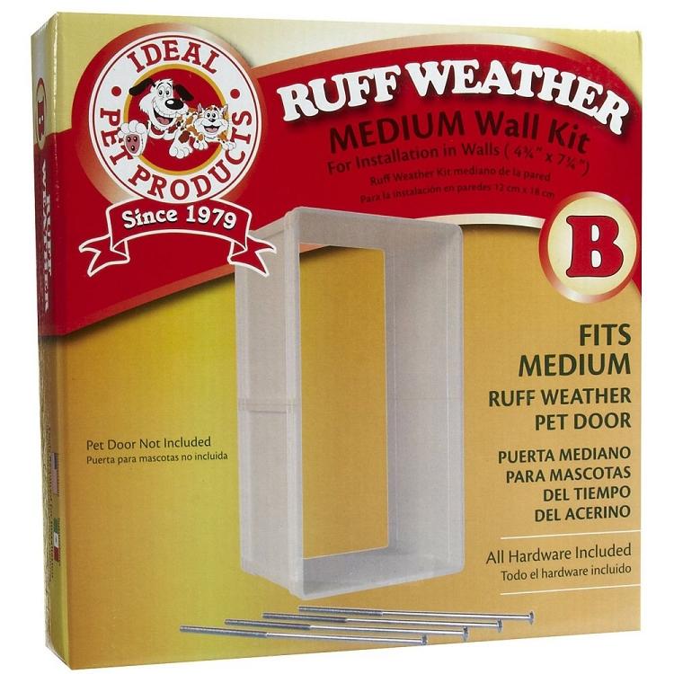 Ideal Pet Ruff Weather Or Protector Pet Door Wall Kit Medium