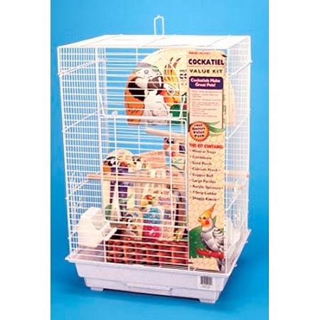 Cockatiel Square Top Bird Cage Kit