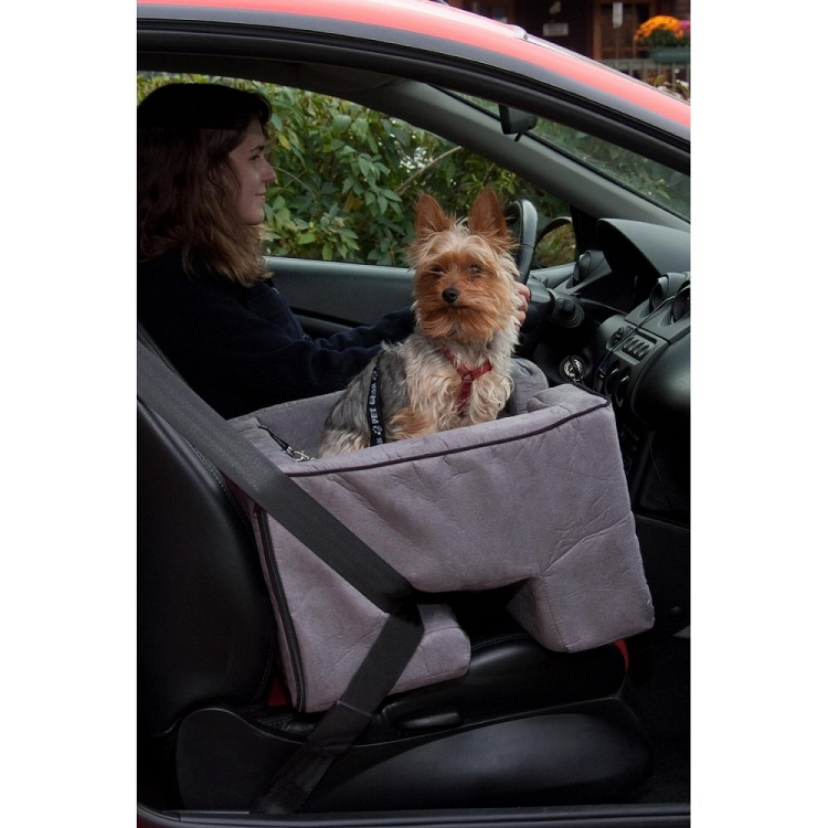 Pet Car Seat Covers >> Large Dog Booster Car Seat - Charcoal