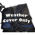 Pet Gear Weather Cover for No-Zip Jogger & AT3 Pet Stroller