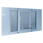 Ideal Pet  Aluminum Sash Window Pet Door - Small/27-32 Inches