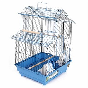 House Style Bird Cage in Blue
